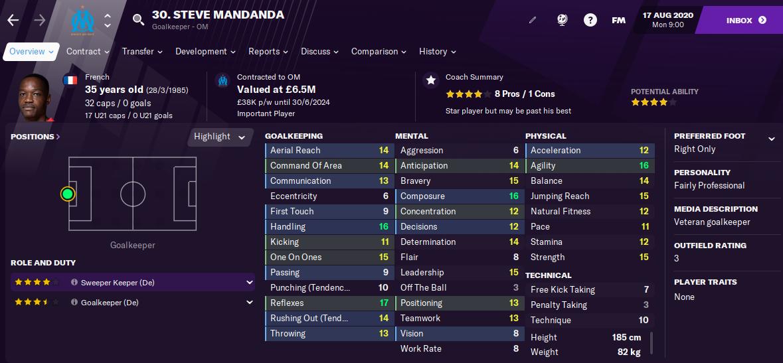 FM21 Steve Mandanda