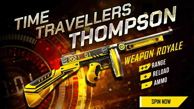 Time Travellers Thompson Skin Free Fire New Event
