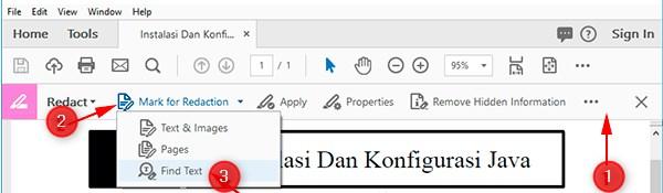 cara hapus tulisan di pdf