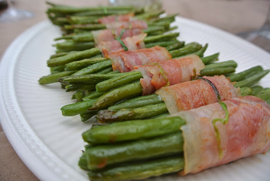 Tasty side dish, green beans with bacon