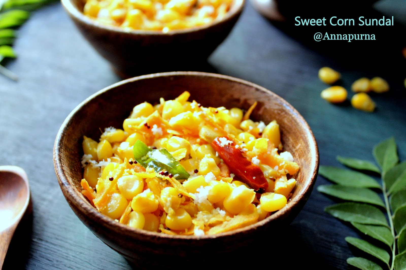 Annapurna sweet corn sundal south indian sweet corn salad recipe sundal is a south indian style salad usually prepared and served as prasadam during navratri different varieties of sundal can be made using different forumfinder Gallery