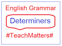 image : English Grammar - Determiners @ TeachMatters