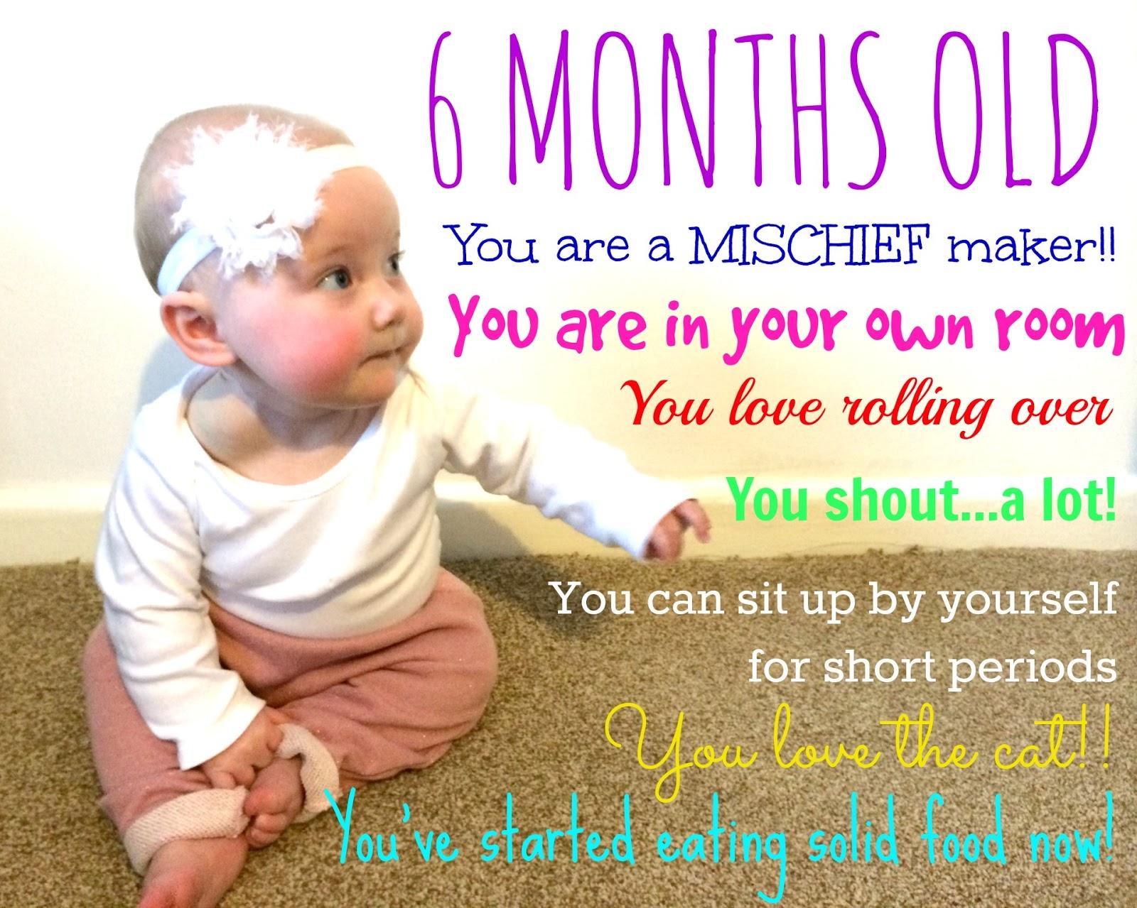 6 Months Old Baby Update