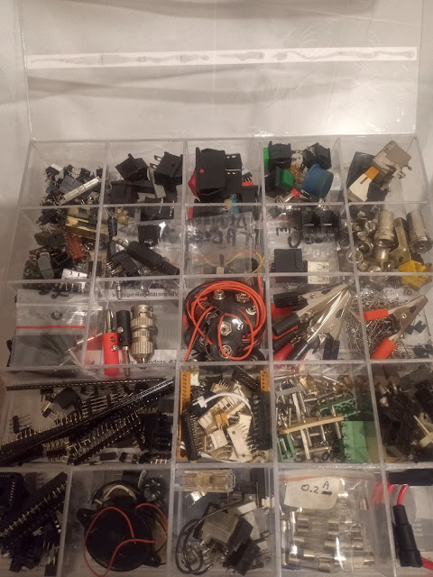 Electronics storage box DIY 5