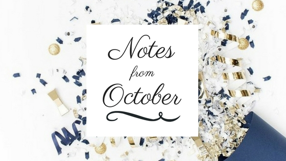 notes from October