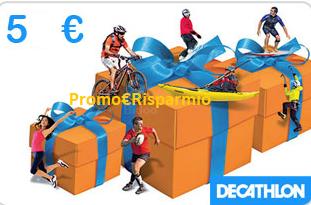 Logo Vinci gratis buoni Decathlon da 5 euro