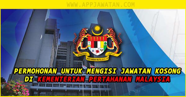 Jawatan Kosong Terkini di Kementerian Pertahanan Malaysia (MINDEF)
