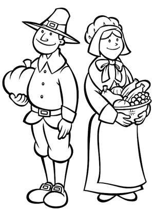 Thanksgiving Pilgrim Coloring Pages >> Disney Coloring Pages