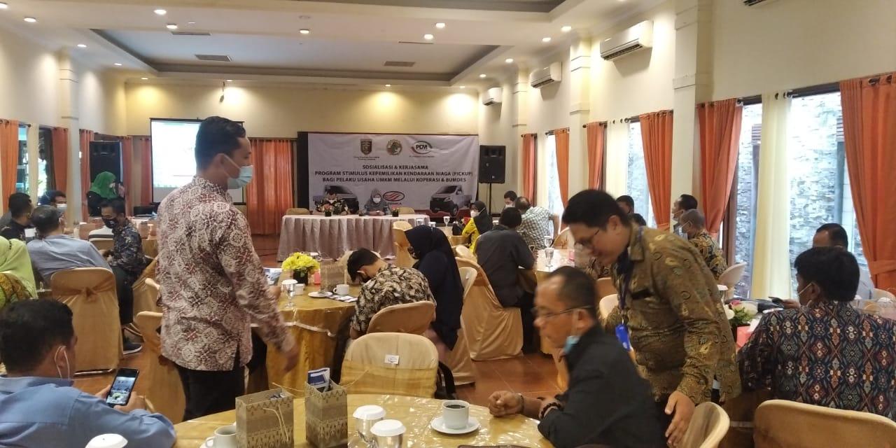 Dinas Koperasi Dan UMKM Provinsi Lampung Dan PT. PSM(Petromax Desa Mandiri) mengadakan Sosialisasi Program Stimulus Kepemilikan Kendaraan Niaga