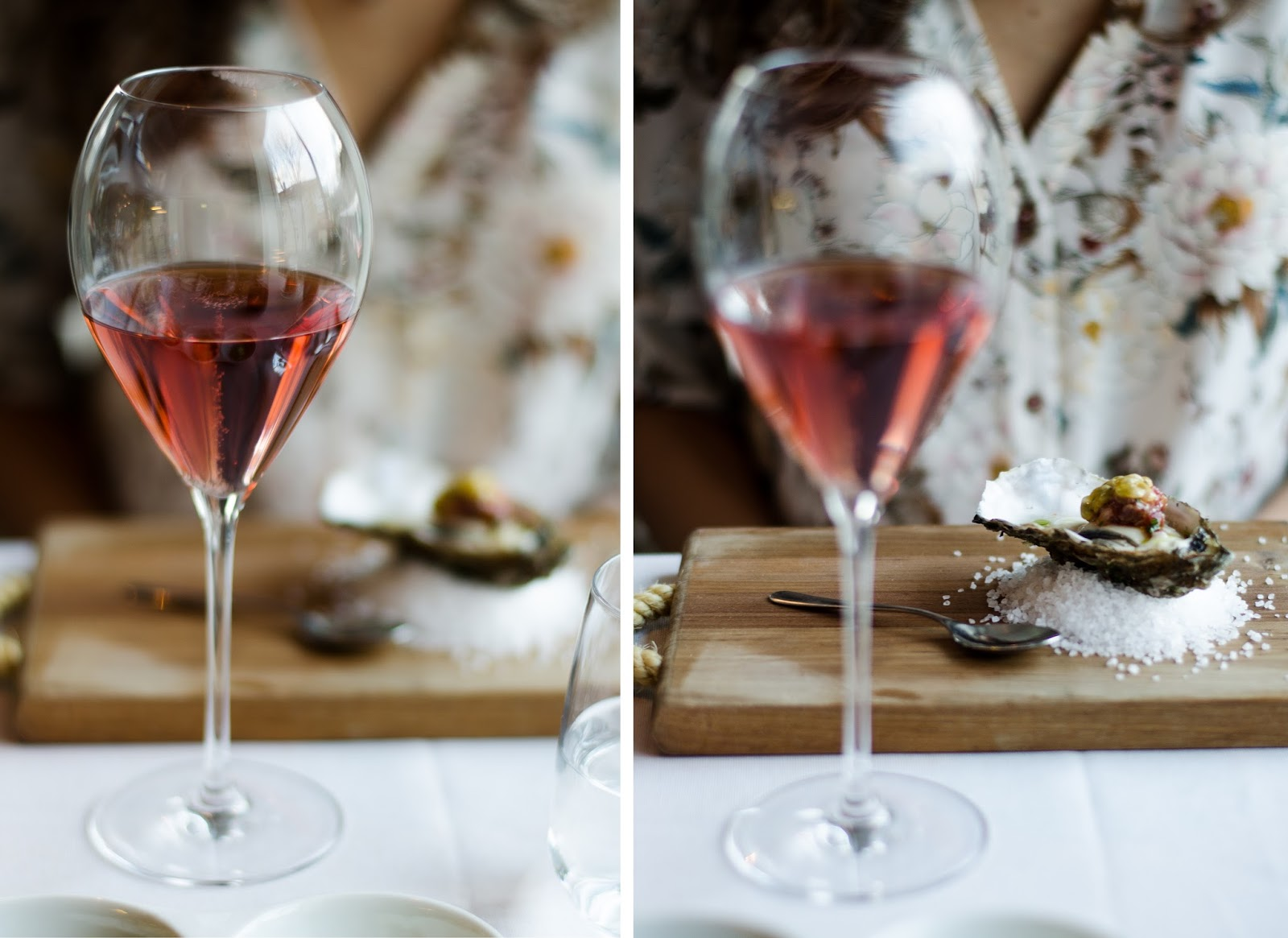 ruinart rose champagne oysters
