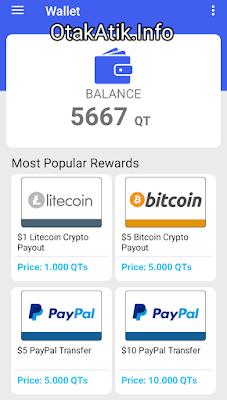 Minimum Penarikan mulai dari 1000 poin untuk Litecoin dan banyak jenis wallet lainnya. Menurut saya PayPal ada salah satu alat pemabayaran yang cukup populer.