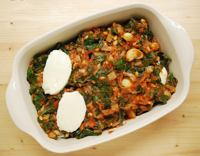 Gratin blettes-tomates-mozzarella