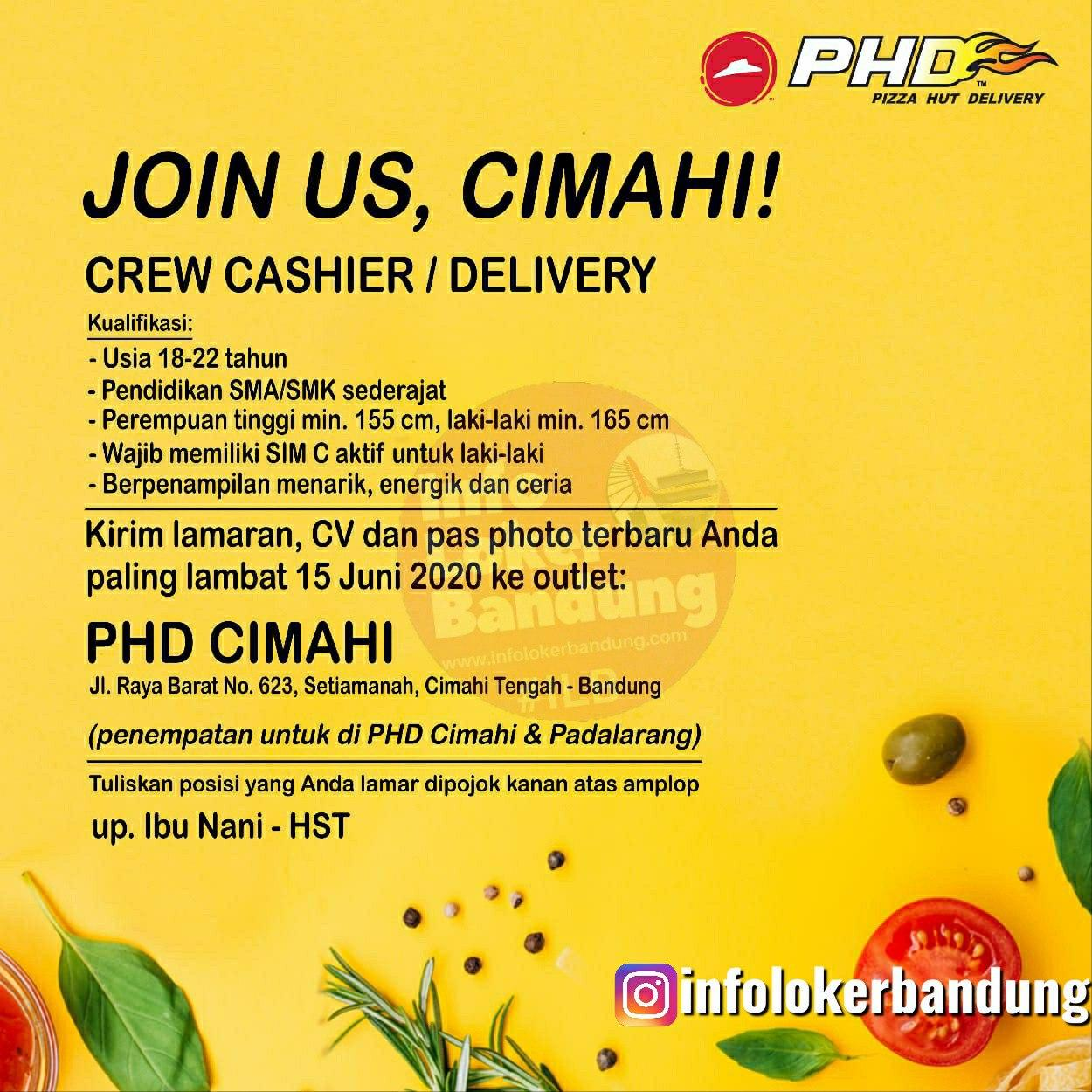 Lowongan Kerja Pizza Hut Delivery (PHD) Cimahi & Padalarang Juni 2020