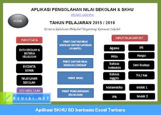 Aplikasi SKHU SD 2016-2017 Dilengkapi Surat Keterangan dan Daftar Nilai