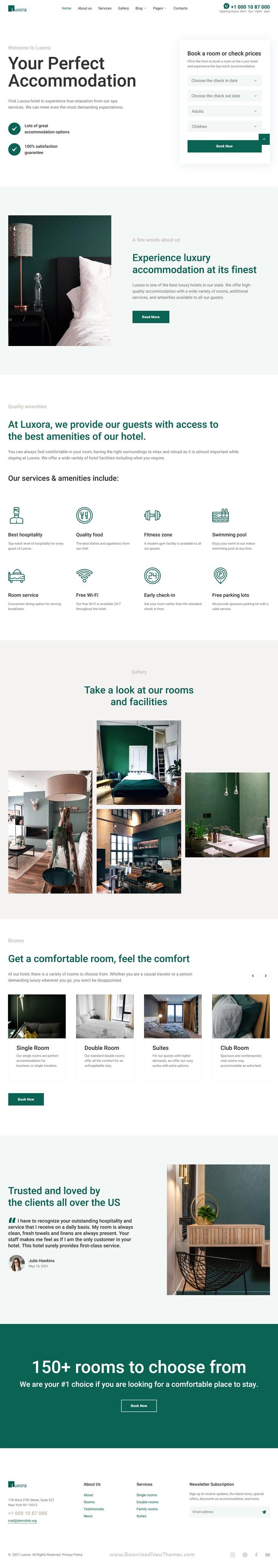 Luxury Interactive Hotel Template