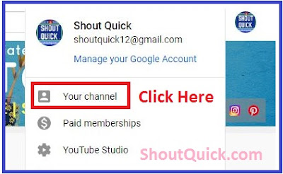 Click on Youtube channel