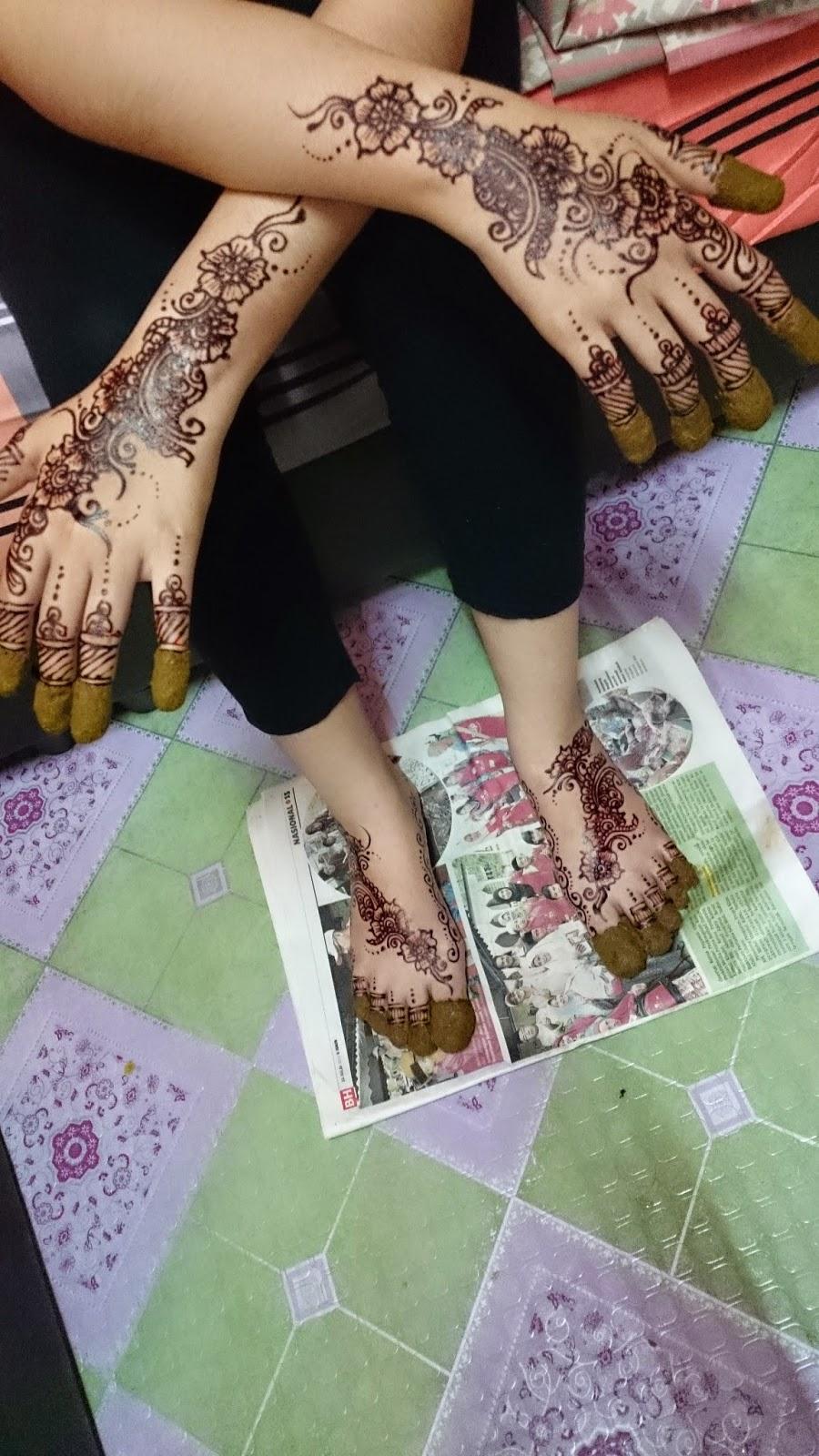 Ikha Henna Artist Inai Tradisional VS Moden April 2015
