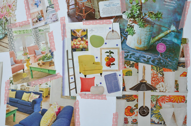 My design board includes lots of light and crisp colors against a white backdrop. - Life on Lemon Lane