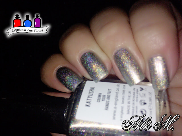 Katyusha, A-England, Russian Soul Collection, Cinza, Grey, Metalico, Holográfico, Alê M.