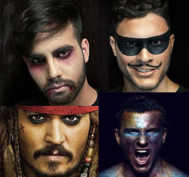 Pirata + Vampiro + Zorro + glitter