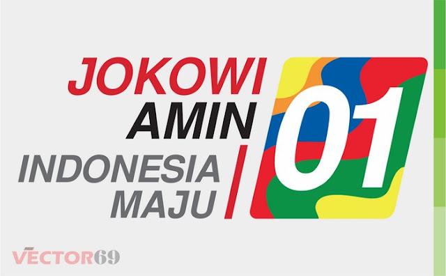 Logo Kampanye Jokowi-Amin Capres 01 Indonesia Maju - Download Vector File CDR (CorelDraw)