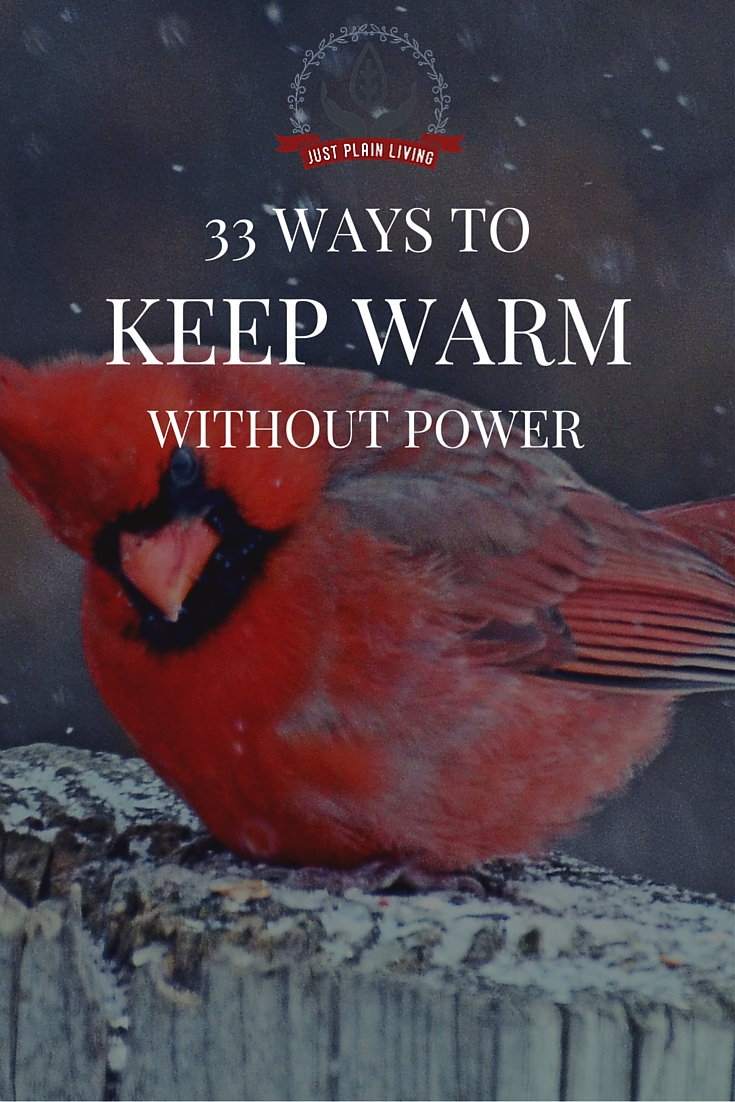 Up here in Canada, we understand cold. We live in a place where, in the winter, the air hurts your face. Here are 33 ways to keep warm that don't require turning up the heat or using more electricity.