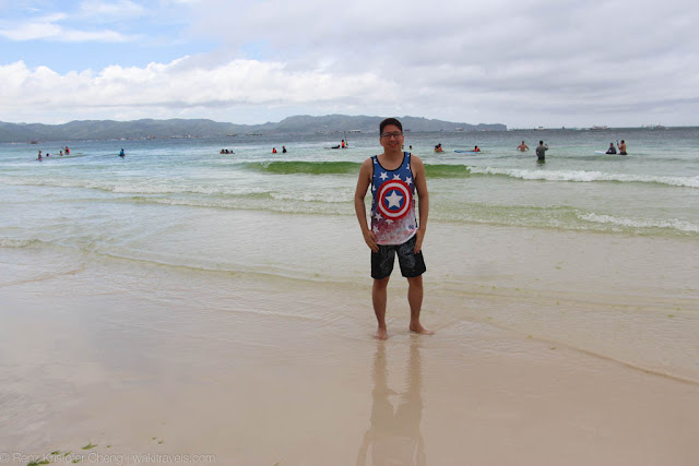 Renz Cheng in Boracay, Philippines