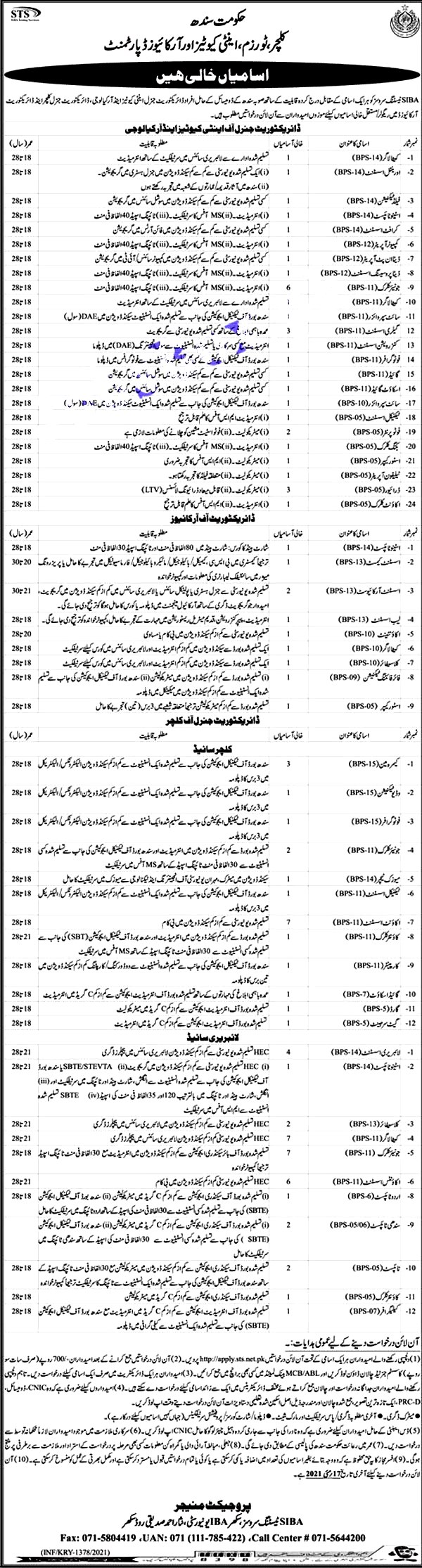Latest Jobs in Culture Tourism And Antiquities Department 2021