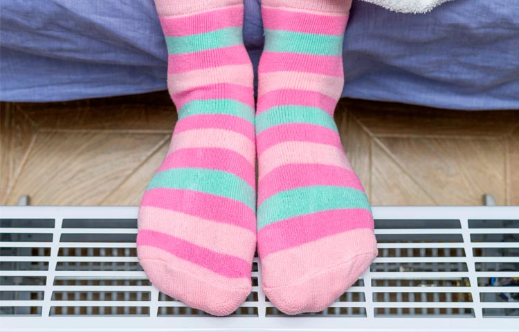 Diabetes and Cold Feet : Possible Causes and Treatment  Diabetes-Cold-Feetstripeysocks
