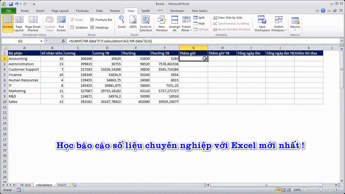 Video tiếng Việt học báo cáo số liệu với Excel chuyên nghiệp. VIP