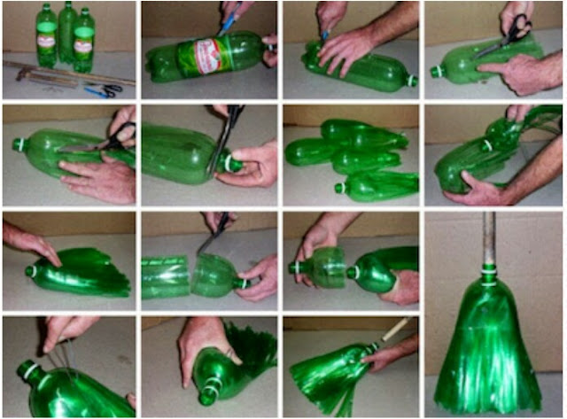 How to make brooms from plastic bottles