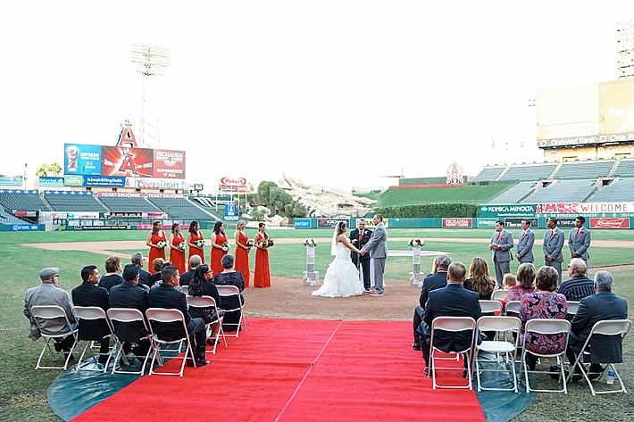 Anaheim Angels Stadium Wedding