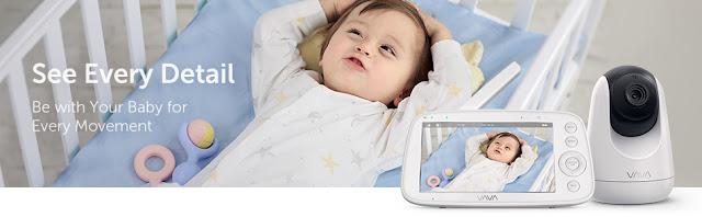 "VAVA 720P 5"" HD Display Video Baby Monitor"