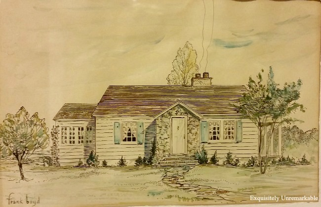 Drawing of 1920s Beach Cottage