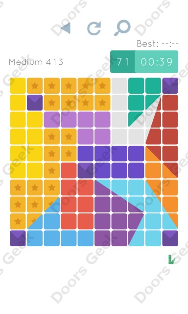 Cheats, Walkthrough for Blocks and Shapes Medium Level 413