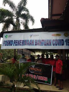 Innova Community Chapter Sumut Bagikan Sembako Bagi Masyarakat Wabah Covid-19