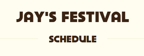 Check out Jay's ACL Festival Schedule Page