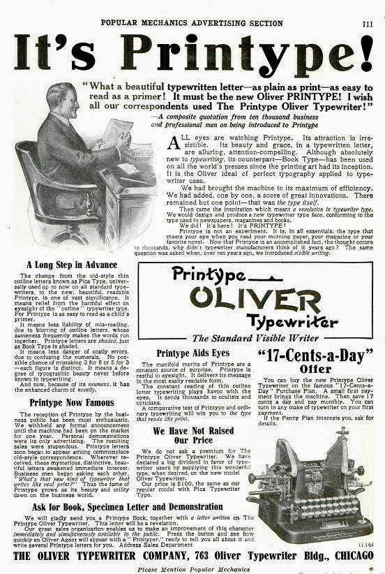 oz Typewriter: 'A Revolution in Typewriter Type'?: Oliver v