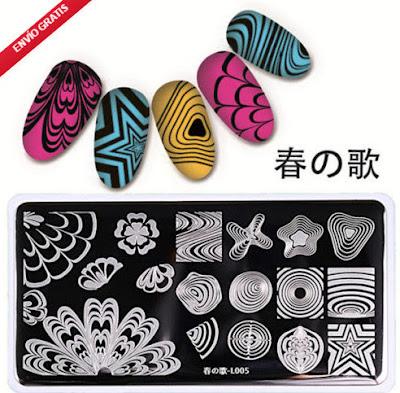Uñas: Placas para Estampar de Marca en Ebay (a precios low-cost)