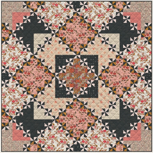 Poppy Quilt designed by Sharon Holland Designs for Live art gallery fabrics Studio, featuring Kismet Collection