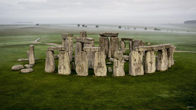 Archaeologists discover a large Neolithic circle of axes near Stonehenge.