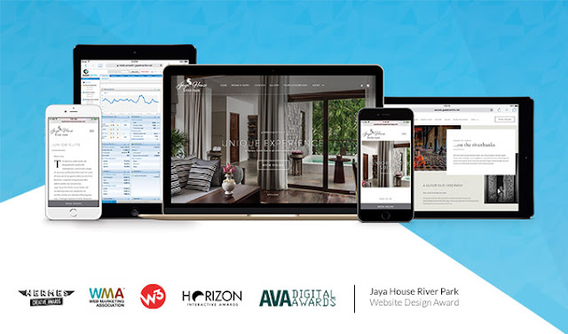 GuestCentric gets five international awards for the Jaya House River Park Hotel website design