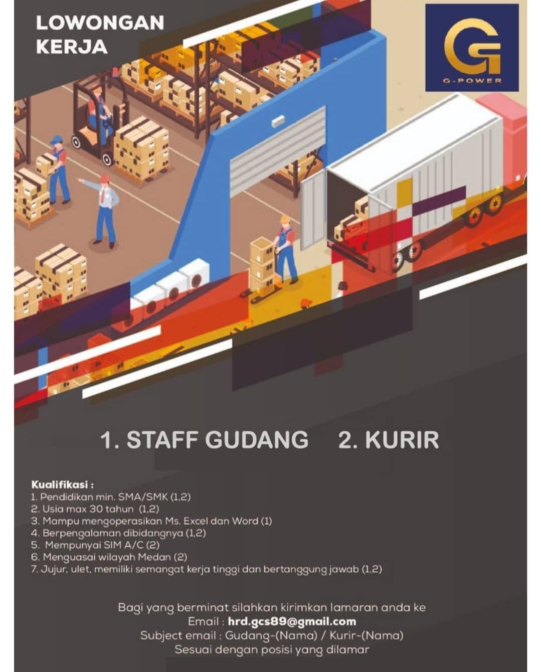 Lowongan Kerja Sma Smk Terbaru Di G Power Indonesia Medan Agustus 2020 Lowongan Kerja Medan Terbaru Tahun 2021