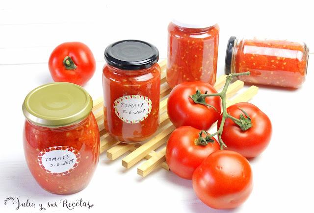 Tomates en conserva al baño maría. Julia y sus recetas