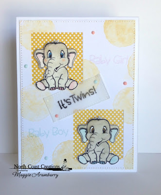 North Coast Creations Stamps & Dies: Bundle of Love, ODBD Custom Dies: Pierced Rectangles, Double Stitched Squares ODBD Paper Collection:: Birthday Brights