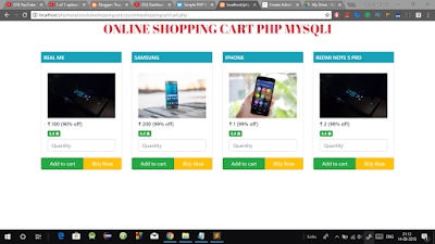 Create simple Shopping Cart using PHP & MySql with Source Code in Hindi