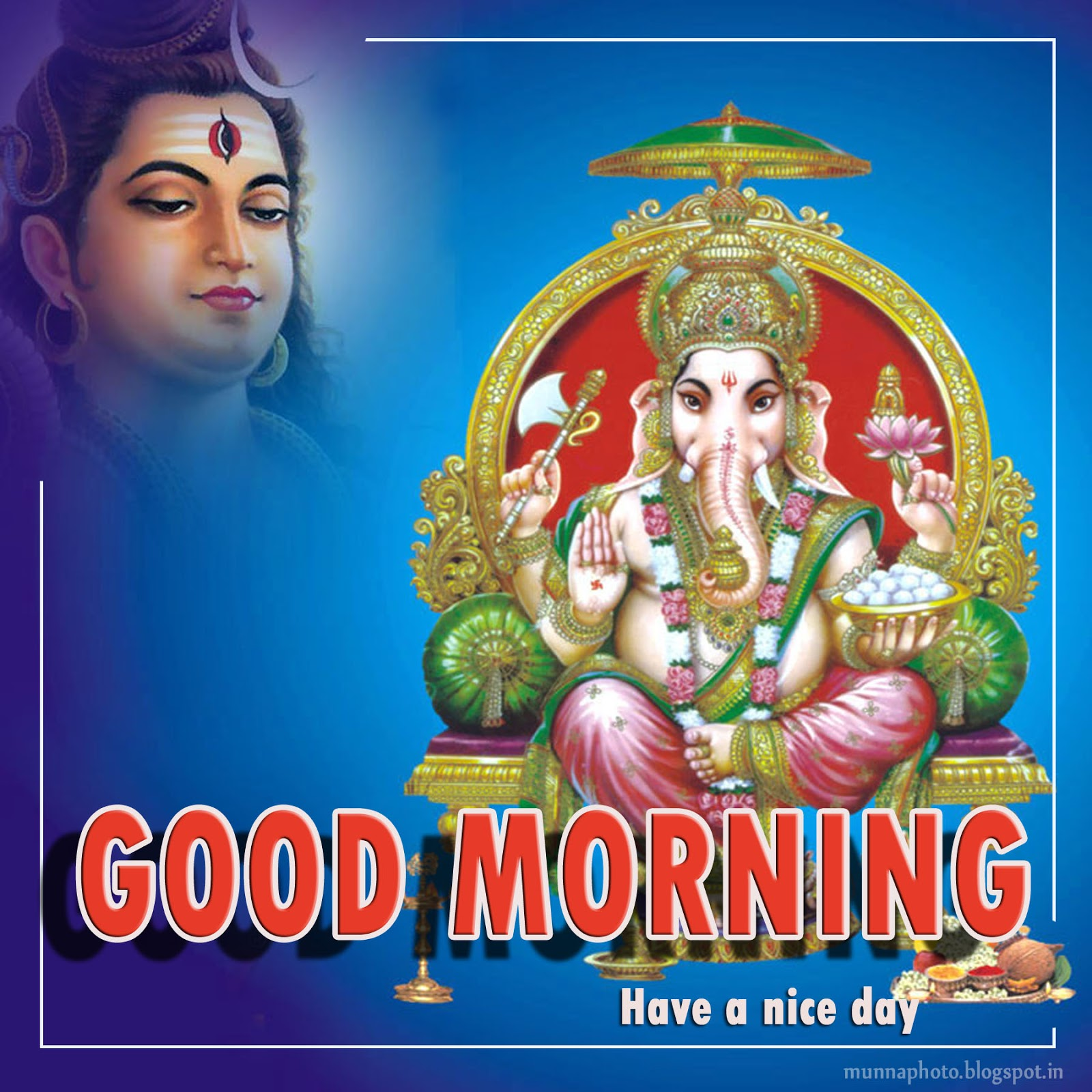 Good Morning Hindu God Munna Photo