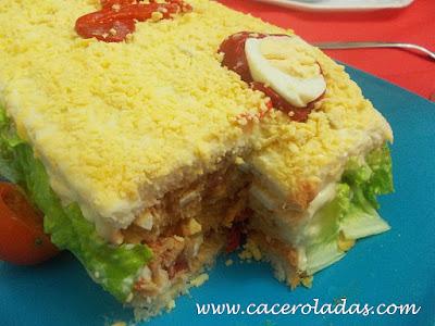 pastel salado de atún