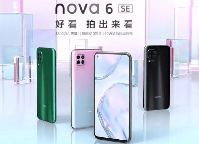 Huawei Nova 6 SE now official