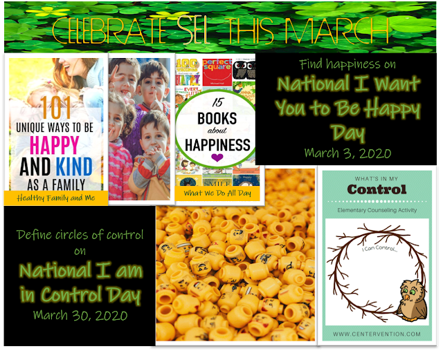Honor National I Want You to be Happy Day and National I am in Control Day by reading books and identifying your circle of control.